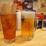 悟空 - 烏龍茶と生ビール