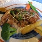 西風和彩食館夢鹿 - 地鶏もも肉のポワレ,レモン風味のクリームソース