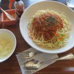 ワガヤ カフェ - 野菜いっぱいスパゲティーミートソース