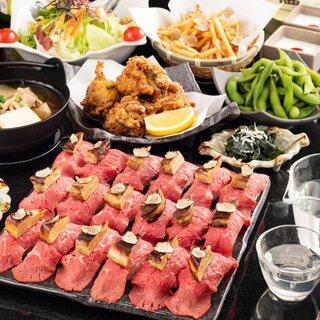 フォアグラ&トリュフ肉寿司食べ放題コース+2H飲放付