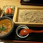 ソバカフェ 孫三 - 黒豚カレーつけ蕎麦