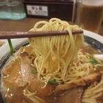 ばり馬 - 硬めの細麺