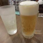 ばり馬 - 生ビールとグレープフルーツサワー