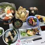 屋形船石川丸 - コロナ対策として、すべてのお料理、1人盛りでお出ししております。