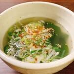 焼肉食彩 味来 - わかめスープ