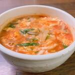 焼肉食彩 味来 - 辛口スープ