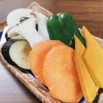 焼肉食彩 味来 - 焼き野菜盛り合わせ