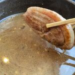 らーめん恵岳房 - つけ汁と鴨肉