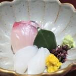 和食や 芦田 - シマアジ アオリイカ
