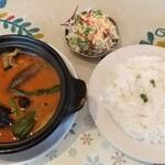 タンドリーレストラン アサ - 料理写真:スープカレーセット