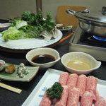 日本料理 一石 - 牛しゃぶしゃぶコース(3150円)