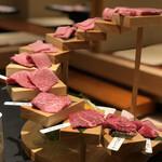 焼肉と精肉のひら山 - 口福の階段