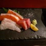 日本酒と鮮魚と釜飯 太公望ほっぺち - 造り三種盛り