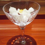 和食や 芦田 - 柚子シャーベット