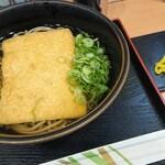 麺座丹波橋 - きつねそばとおにぎり。