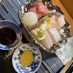 祇園ゆやま - イカは胡麻油で頂きます