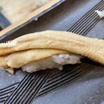 祇園ゆやま - 穴子、熱いうちにと先に食べる様勧められました