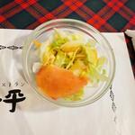 グリル一平 - 一平風ローマハンバーグのサラダ