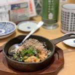 鮨・酒・肴 杉玉 - チキンのネバネバ醤油薬味がけ