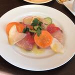 143232045 - 【プリフィックスコース】(1800円税込)◇前菜【カンパチのカルパッチョ】