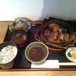 萬寿野 - 料理写真:陶板焼き