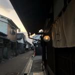うのまち珈琲店 - 夕暮れの外観