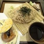 14325895 - 手打ち麦切り 本日の季節の天ぷら3品付 1,100円