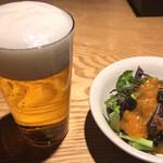 焼鳥今井 - 焼鳥今井(ビール、ミニサラダ)
