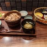 料理屋 とり匠 - 鶏ひつまぶし膳1