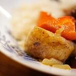 """洋食屋 - """"燉牛肉栗飯(うしにくにこみくりめし)""""、土芋(じやがたら)"""