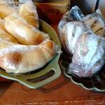 SUN - 塩メロンパン、イチジクとナッツのリュスティック(食べたい)