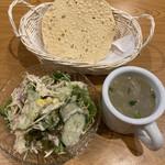 143263803 - サラダ&スープ&パパド