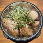 麺屋 八海山 - 料理写真:■味玉入煮干そば大盛¥1300