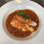 城北飯店 - ソフトシェル海老のチリソース煮テツマEM卵とともに