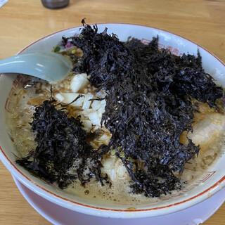 渚 - 料理写真:限定 玉ねぎ煮干しラーメン(¥790)+岩のり(¥190)