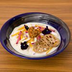 麺キュイジーヌ 麻布邸 - 大豆ミートと冬野菜、根菜のヴィーガン豆乳うどん