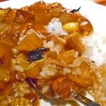 剛龍飯店 - サービスランチ(御飯大盛り)(食べかけで失礼します)