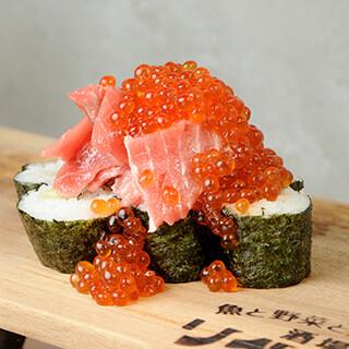 鮮魚が贅沢に味わえるお寿司、おつまみに嬉しい一品料理も豊富♪