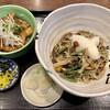 正乃家 - 料理写真:豚ばら生姜焼き丼とおろし山菜蕎麦900円税込