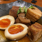 町屋酒場りとも - 栗豚の角煮と煮卵ランチ