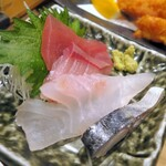 鮨 酒 肴 杉玉 - 刺身4種盛り¥299