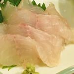 旬楽 飃 - ヒラメ刺身