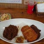 沙羅 - 料理写真:コンビ(ビーフ+ポーク)+大盛り+三元豚カツ