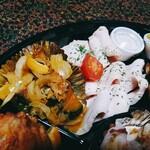 サバービア - 南瓜の南蛮漬、鶏むね肉のごく柔ハム