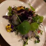 Furansuryouri yaoraryouriten - ヒラスズキのサラダ仕立て