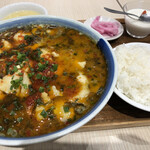 143343036 - 酸菜魚(suan cai yu) ¥900 (税込)                       「高菜と白身魚の煮込み」 小辣