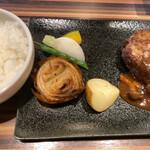 肉匠 いやさか - 近江牛ハンバーグランチ