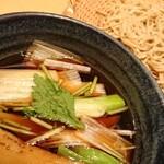 手打ちそば 石月 - 秋那須つけ汁そば ¥1364~蕎麦は北海道雨竜郡沼田町産北早生使用