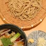 手打ちそば 石月 - 秋那須つけ汁そば ¥1364 蕎麦は北海道雨竜郡沼田町産北早生使用