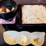 そば処 治兵衛 - 「鴨せいろ」(¥1,580):最後に立ち食い蕎麦を食べたのは何時だったのか。記憶がサッと蘇る♪